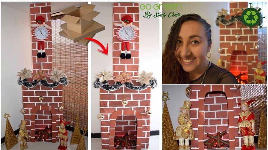 Aprende cómo hacer una chimenea de cartón para decorar en Navidad ...