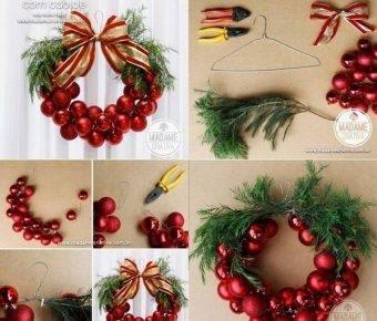 5 coronas para navidad decoraci n for Ideas en cinco minutos