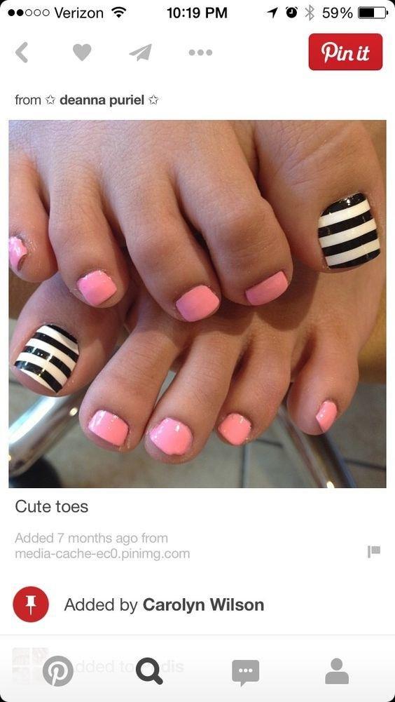 Uñas decoradas, pies hermosos y fáciles de hacer para que luzcas ...