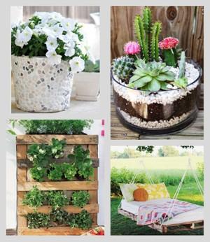 40 ideas de reciclaje y manualidades para el jard n plantas for Arreglo del jardin