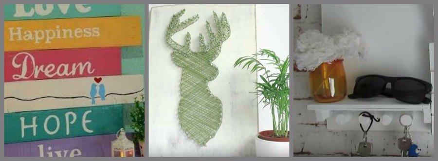 pero al producirse en serie no terminan de ser elementos nicos por eso aqu tienes ideas diy para decorar paredes con las que adems reciclars