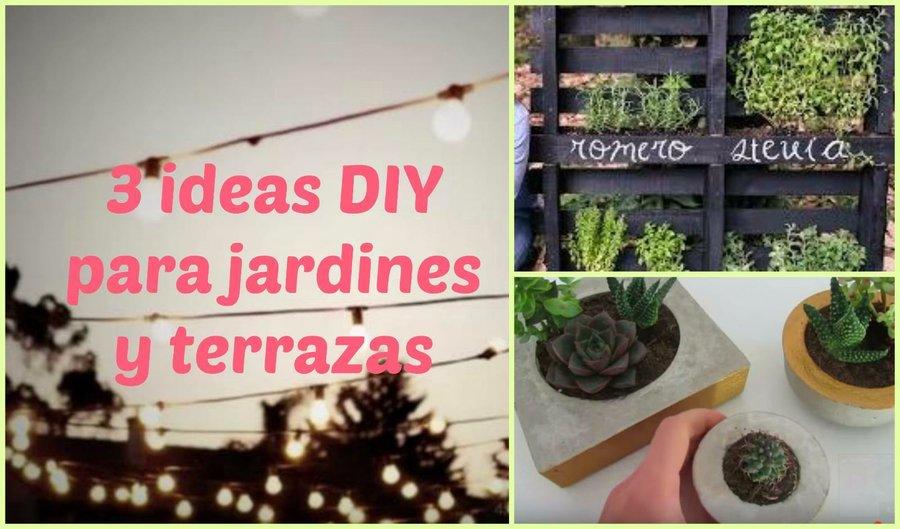ideas diy para jardines o terrazas