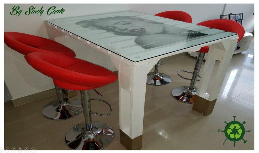 Como Hacer Una Mesa Original Con Palets Bricolaje - Manualidades-palets