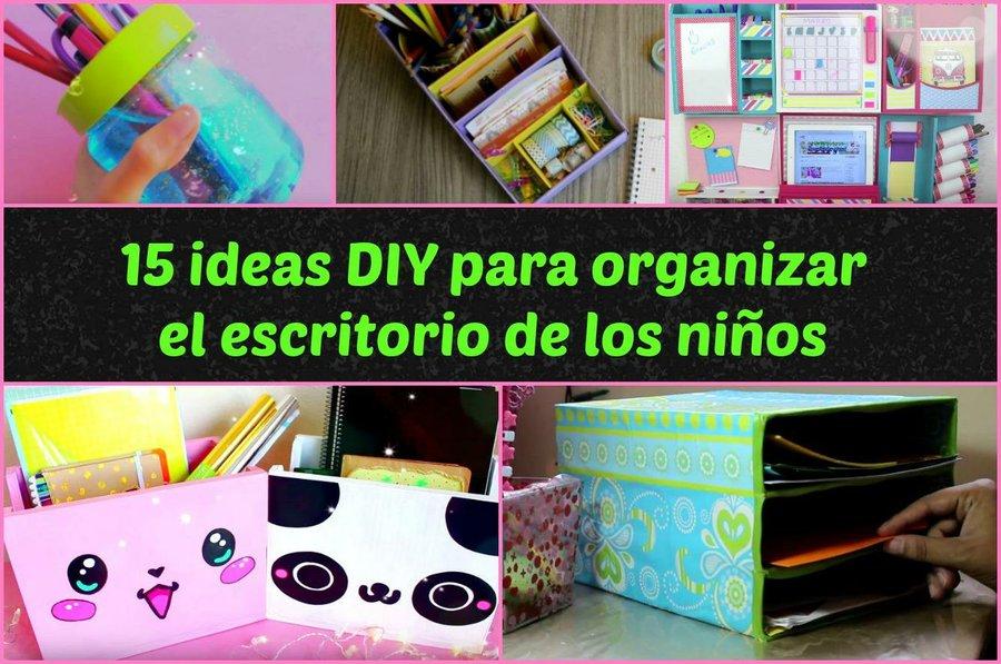 15 ideas diy para organizar el escritorio de los ni os - Ideas para organizar papeles en casa ...