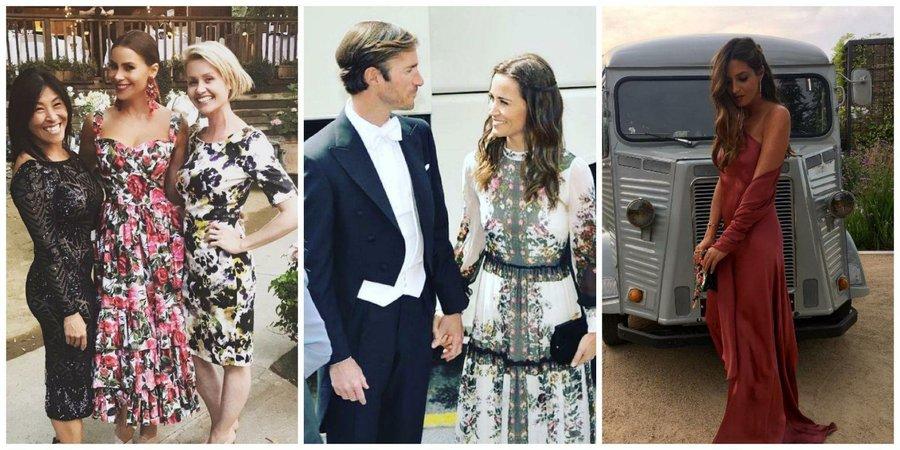 Vestidos de fiesta de famosas en bodas