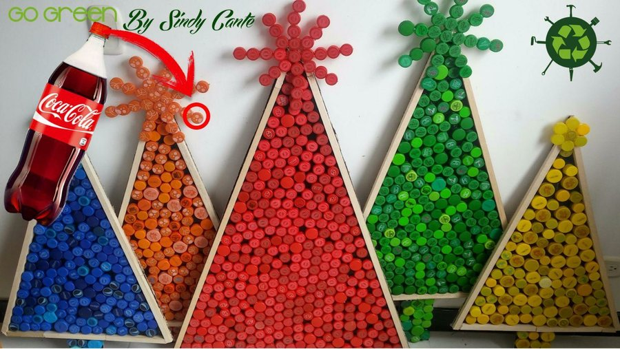 Descubre qu fcil es hacer un rbol de Navidad con material