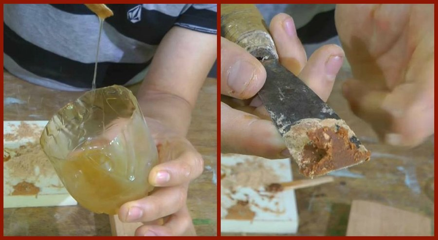 C mo hacer masilla para madera de forma casera bricolaje - Masilla para madera casera ...