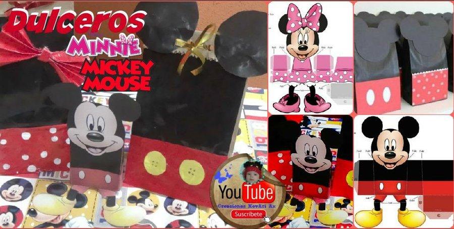 Imagenes De Mickey Y Mimi >> Dulcero de Mickey y Minnie. Cajita imprimible DIY   Manualidades