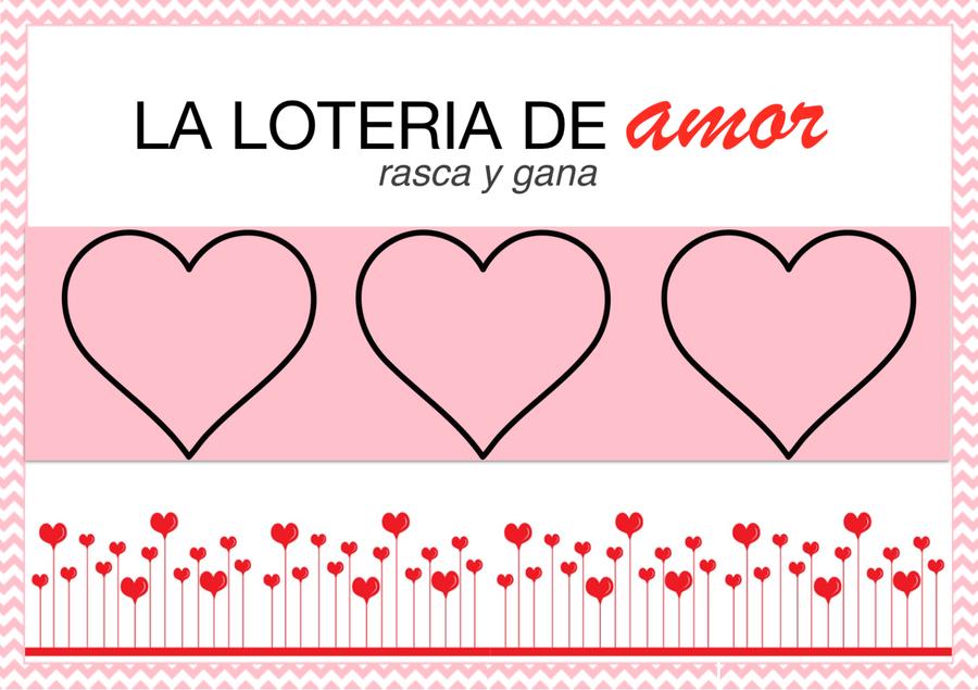 Tarjetas ¨rasca y gana¨ especial San Valentín, ¡con plantillas ...