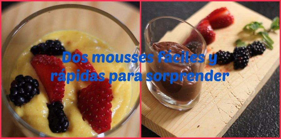 Dos mousses f ciles y r pidas para sorprender cocina for Platos faciles para sorprender