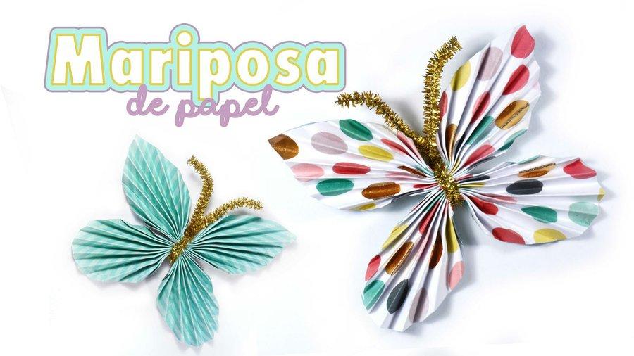 Cómo hacer una mariposa de papel | Manualidades