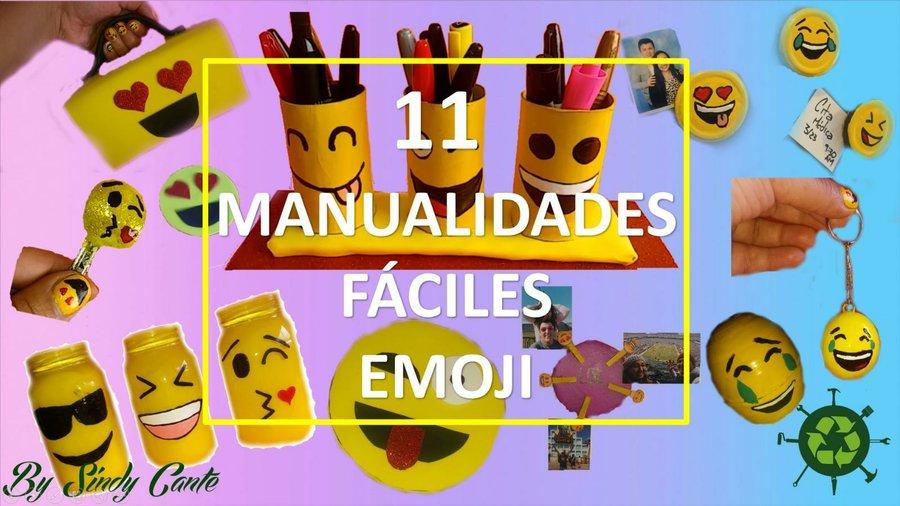 11 Manualidades Emoji Muy Faciles Que Tienes Que Intentar Manualidades - Manualidades-con-materiales-de-casa