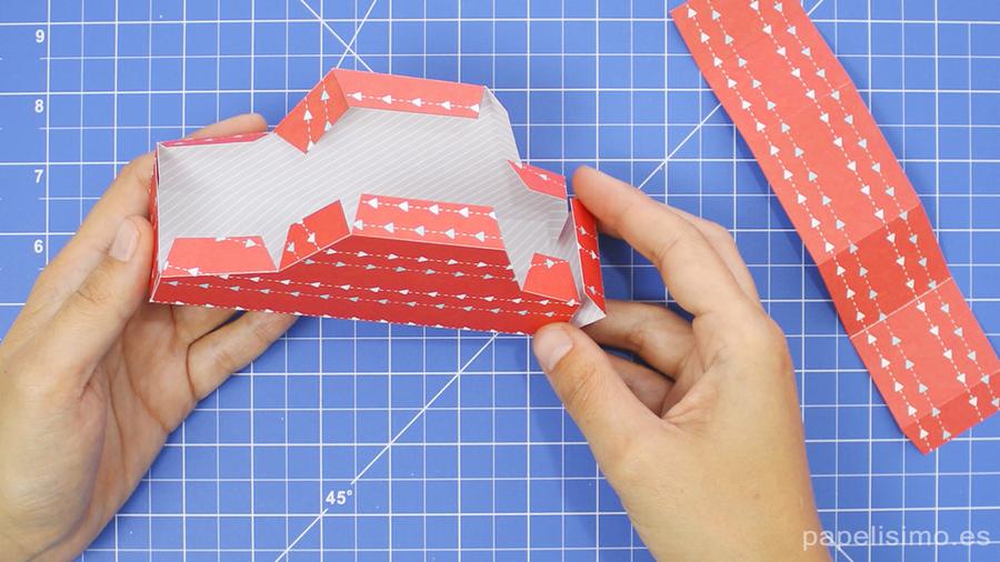 Coche de papel (cajita) con plantillas | Manualidades