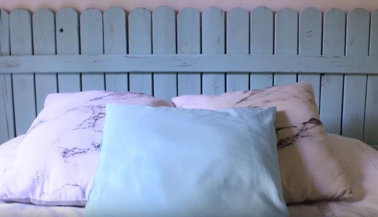 40 ideas para hacer un cabecero original bricolaje - Cabeceros cama caseros ...