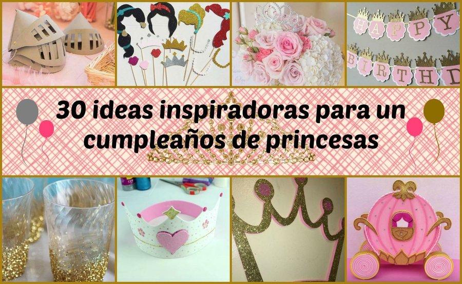 30 ideas inspiradoras para un cumpleaos de princesas manualidades - Ideas Para Un Cumpleaos