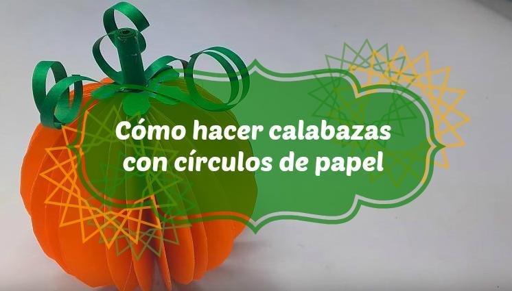 una calabaza de papel | facilisimo.com