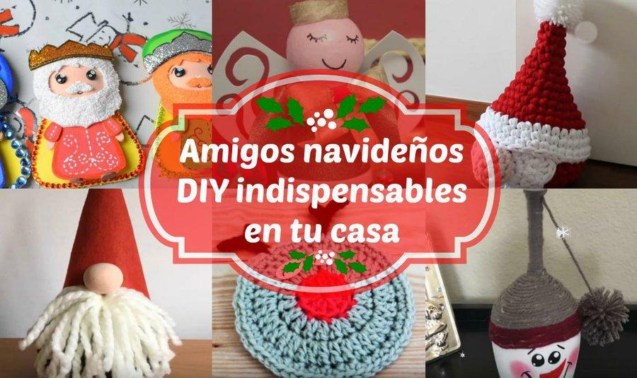 6 Muñecos navideños para decorar en Navidad-Moldes-DIY | Manualidades