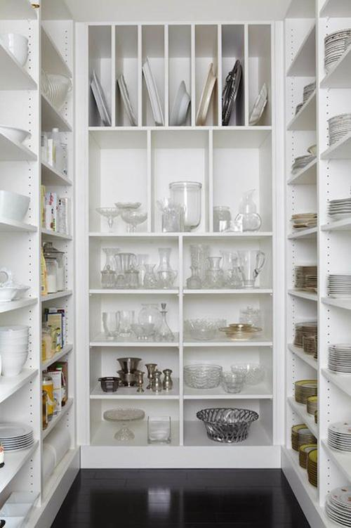 Organization kitchen pantry