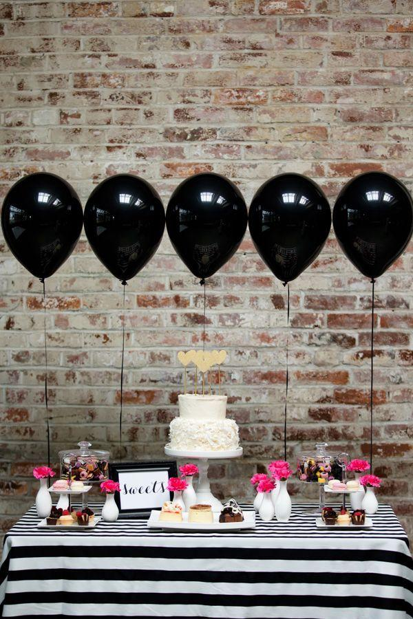 ideas decoración mesa dulce con globos