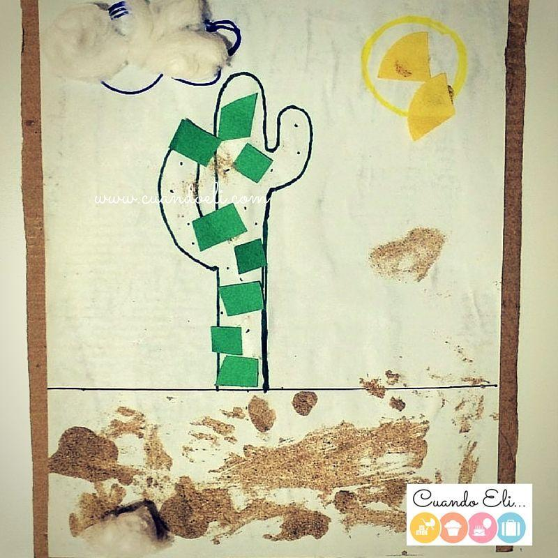 collage infantil cactus