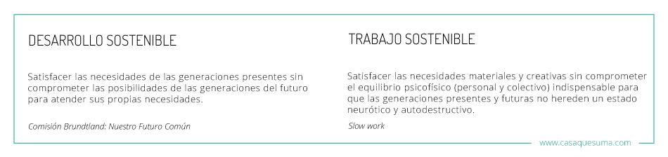 slow work, trabajo sostenible