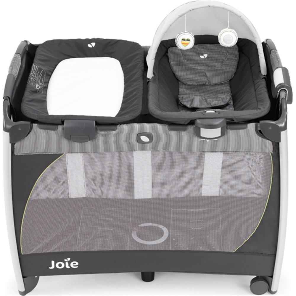Cuna de Viaje Joie Excursion Change & Rock Classic Stripe
