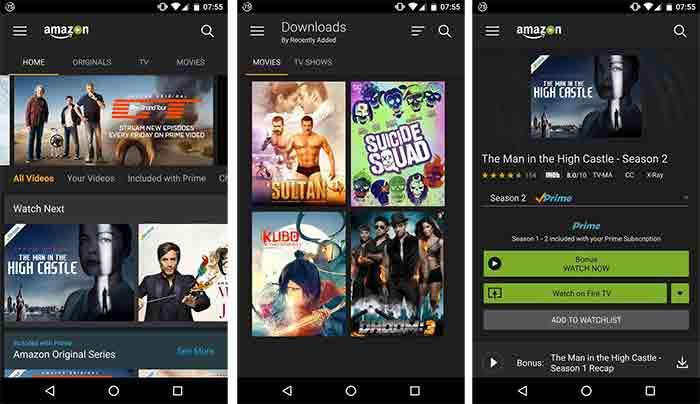 Amazon Prime Video para Android