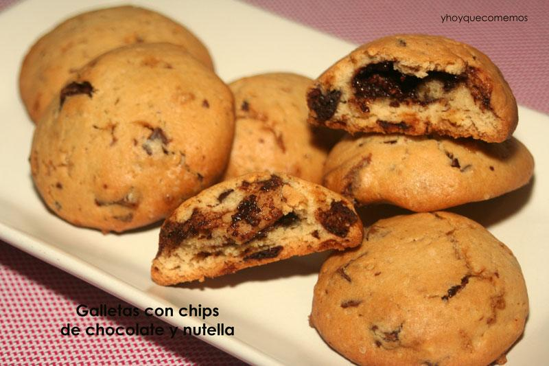 galletas con chips de chocolate y nutella - cookies con nutella