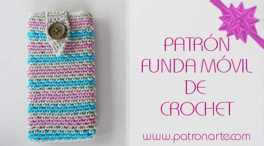funda movil de croche