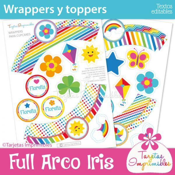 wrappers-y-toppers-para-cupcakes-arco-iris