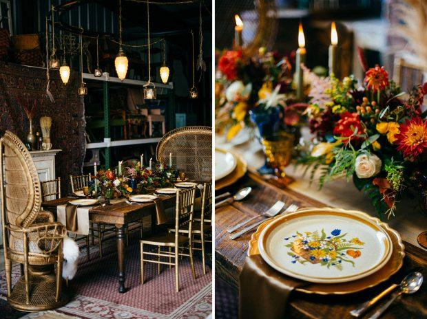 golden table styling