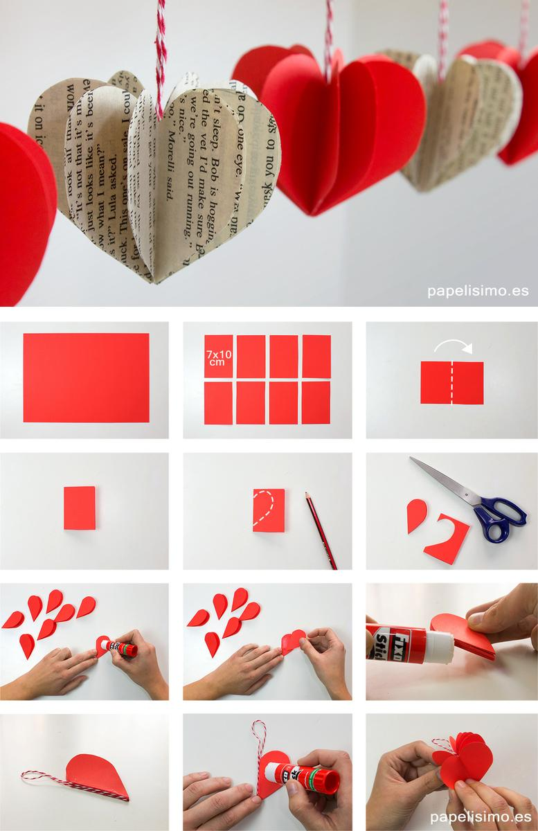 Corazones-3D-de-papel-how-to-make-paper-hearts