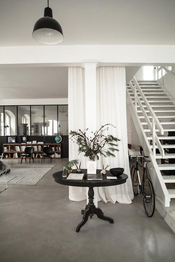 concrete flooring interiors