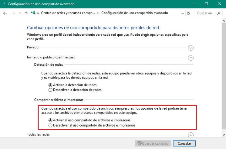 Trucos Win10 activar compartir impresora en Windows 10 01