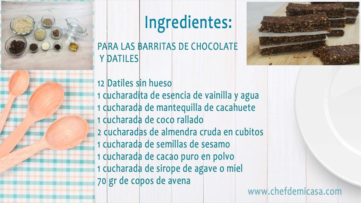 Snacks Saludables - Barritas de Chocolate