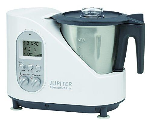 Jupiter Thermomaster - Robot de cocina (Negro, Acero inoxidable, Color blanco, 5.35 kg, 41 cm, 24 cm, 50/60 Hz, 230V)