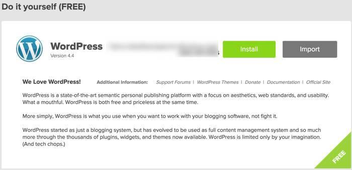 paso 3 para instalar un blog de wordpress en bluehost