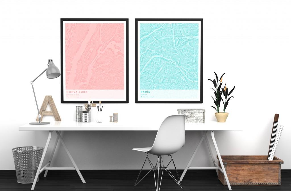 Decorar con mapas ParejaLiquid Geogragift