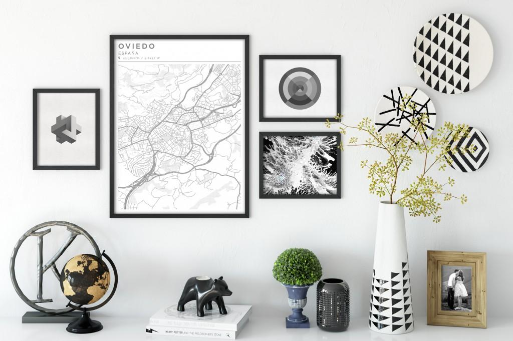 Decorar con mapas Clean001 Geogragift