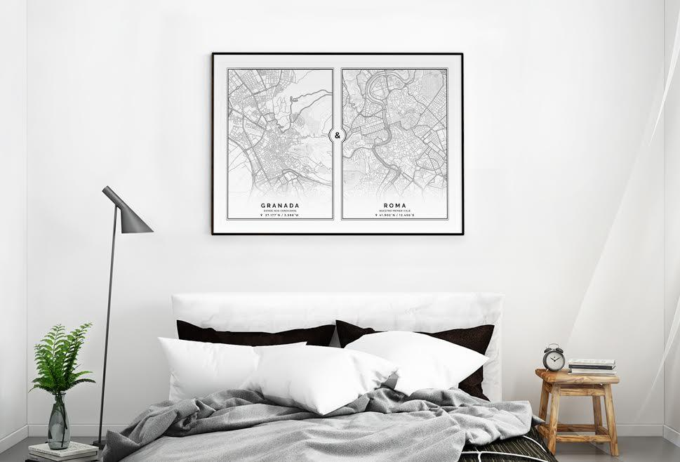 Decorar con Mapas Clean Duo Geogragift