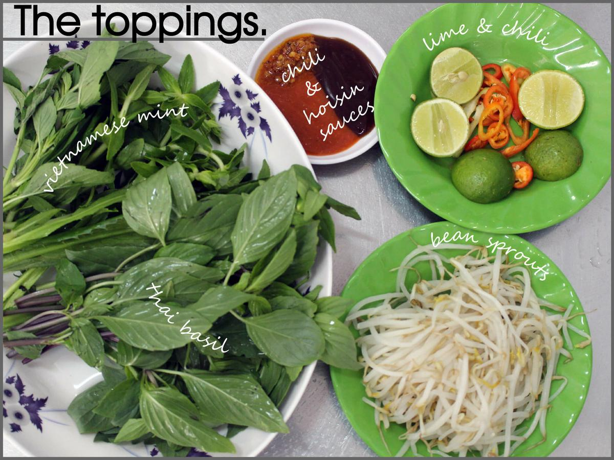 Los toppings del Pho