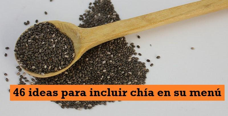Ideas para incluir CHÍA en su menú
