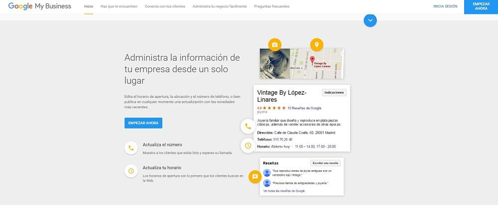 como aparecer en google maps y my business o google places