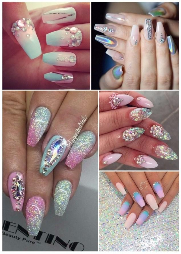 uñas decoradas unicornio