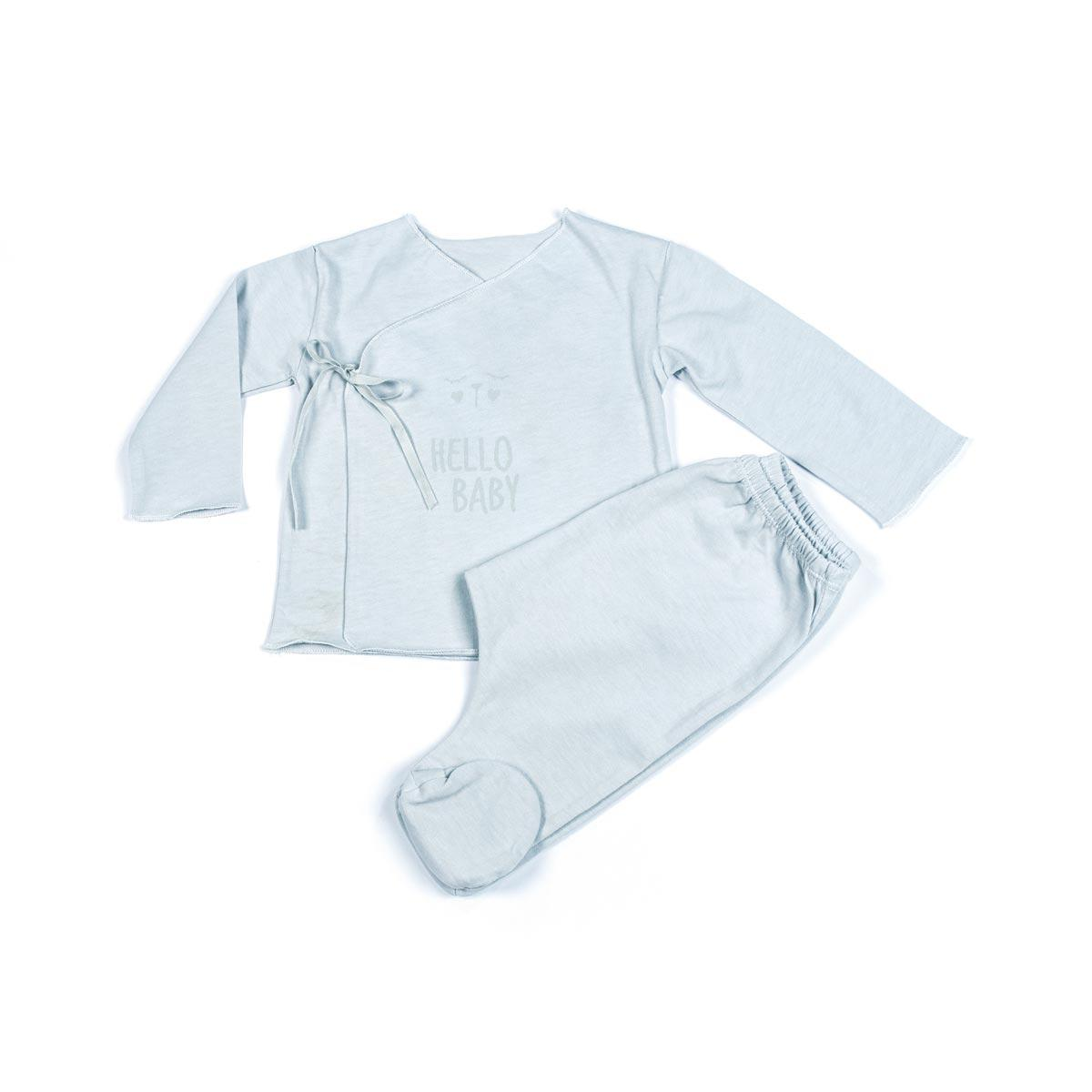 Camiseta y Polaina Hello Baby Walking Mum Gris