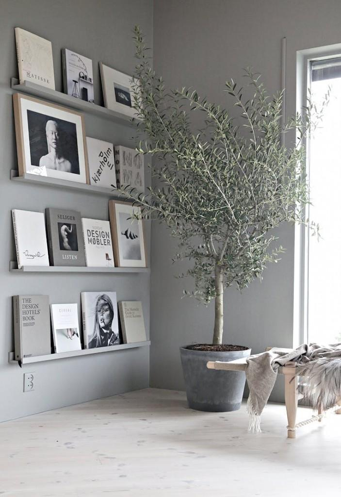 nordic decor with olive tree