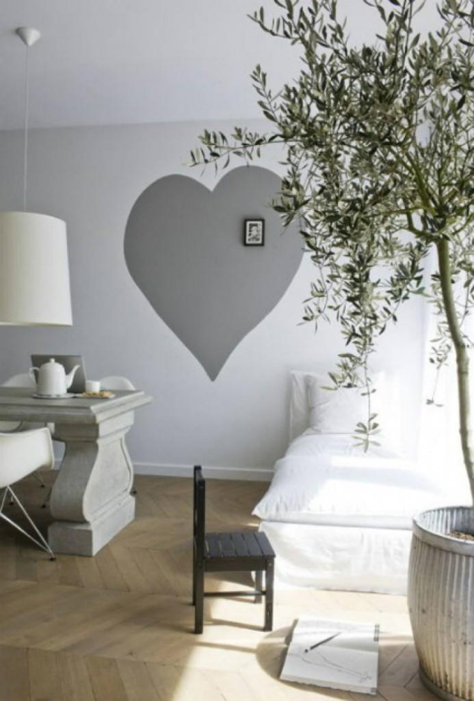 Olive tree in neutral spaces