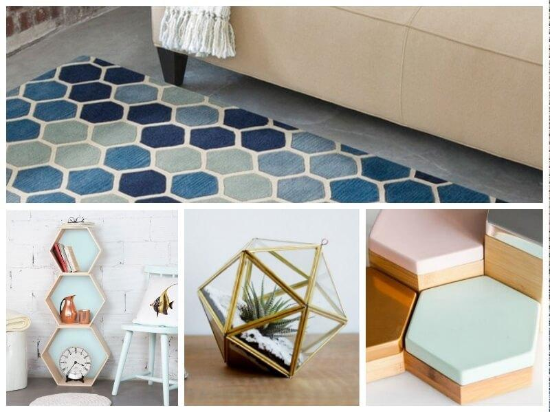 decorar con hexágonos