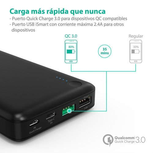 power bank con carga rapida