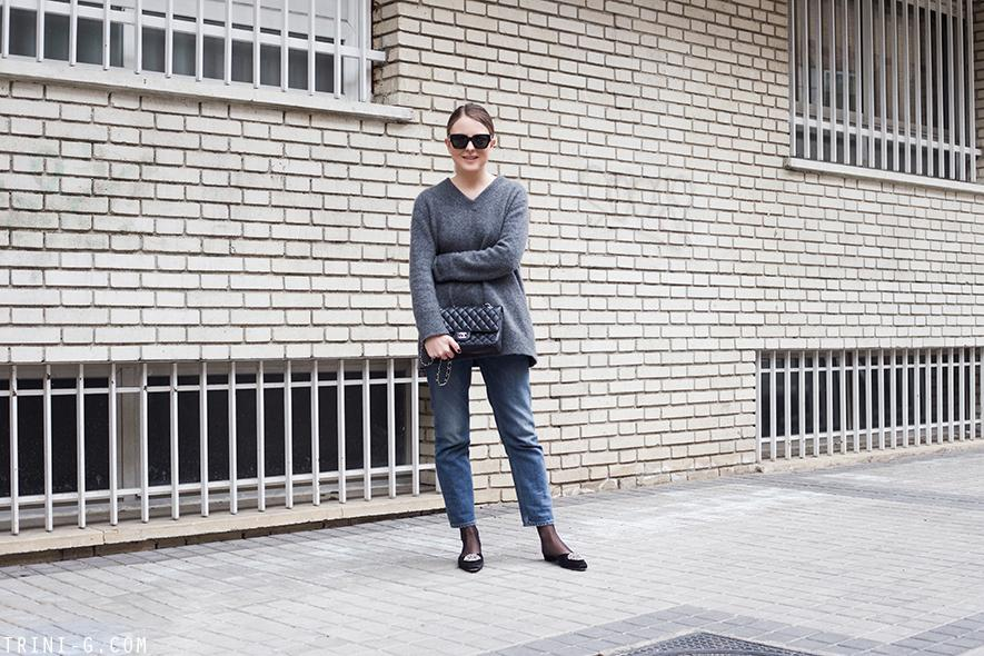 Trini | The Row sweater Acne Studios jeans Manolo Blahnik shoes